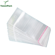 YASON opp header bag with euro hole bopp printed plastic header cards bag bopp/cpp header bag