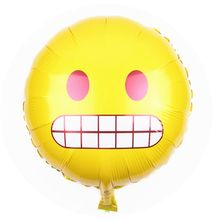 New products 18inch Round expression surprised amazed astonishment astounded emoji aluminum balloon wedding gift for guest