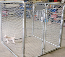 Wholesale large 9 gauge Galvanized/PVC coated dog backyard kennels houses from China metal dog cage factory