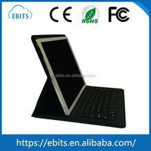 Hot product superior portable PU leather case CE/FCC/ROHS/ISO bluetooth folding leather keyboard for ipad mini