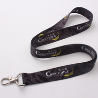 Heat transfer custom key lanyards polyester material for design logo free