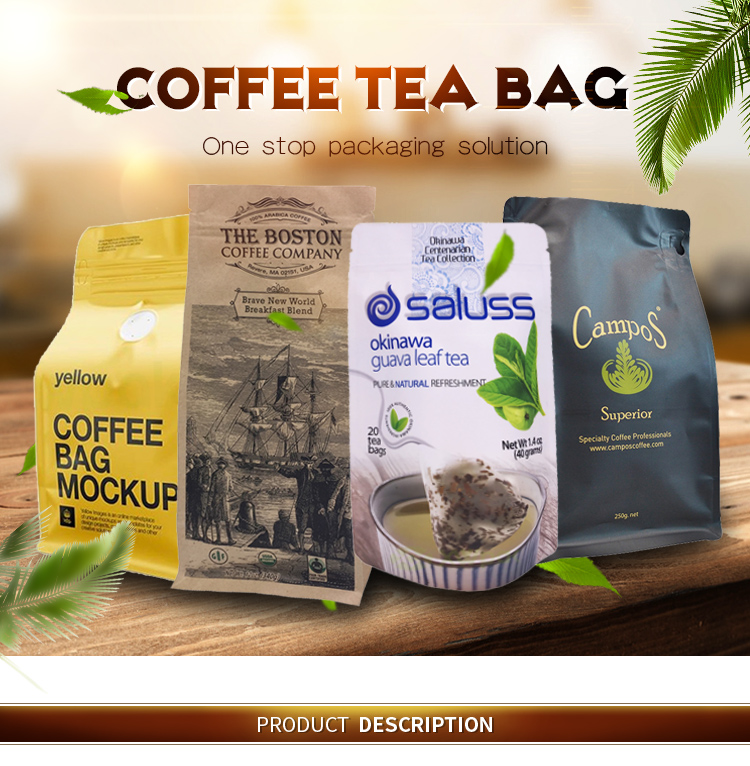 Durable Printed Valve Craft Coffee Bags