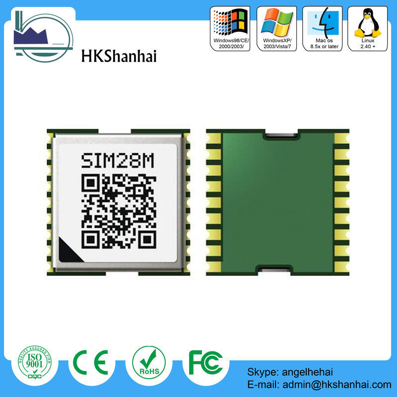 High sensitivity gps module simcom sim28m with mtk navigation engine