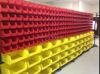 Vintage plastic stacking bins Strong Spare Parts Plastic Storage Boxes & Bins