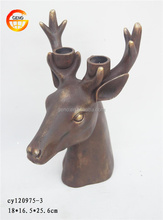 Hot selling resin deer head candle holder