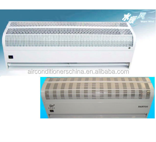 Hot water air curtain air door