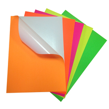 Reasonable price self adhesive fluorescent colorful sticker paper in rolls or sheets