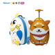 new design cheap OEM egg shape dog animal cute children cabin kids eva PU leather travelling bags luggage