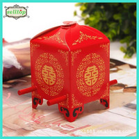 Cute 230g paper red wedding favor boxes