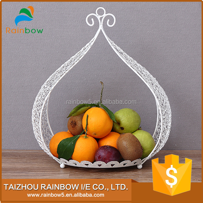 Elegant design hanging designer steel wire fruit gift basket