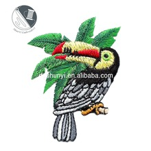 Toucan on a Branch /Iron On Embroidered Applique/Tropical/Birds