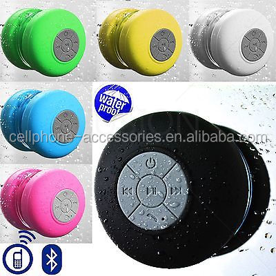 New Portable mini Bluetooth Speaker Car Handsfree Subwoofer Speaker with Sucker Waterproof function for cellphone