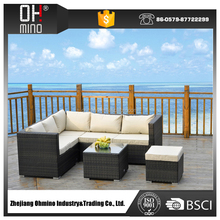 wicker outdoor furniture rattan corner sofa furniture /ratan garden furniture sectional sofa