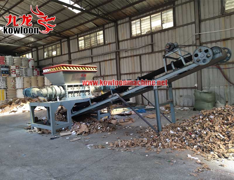 Industrial used planetary gearbox 2 shaft waste carton paper shredder