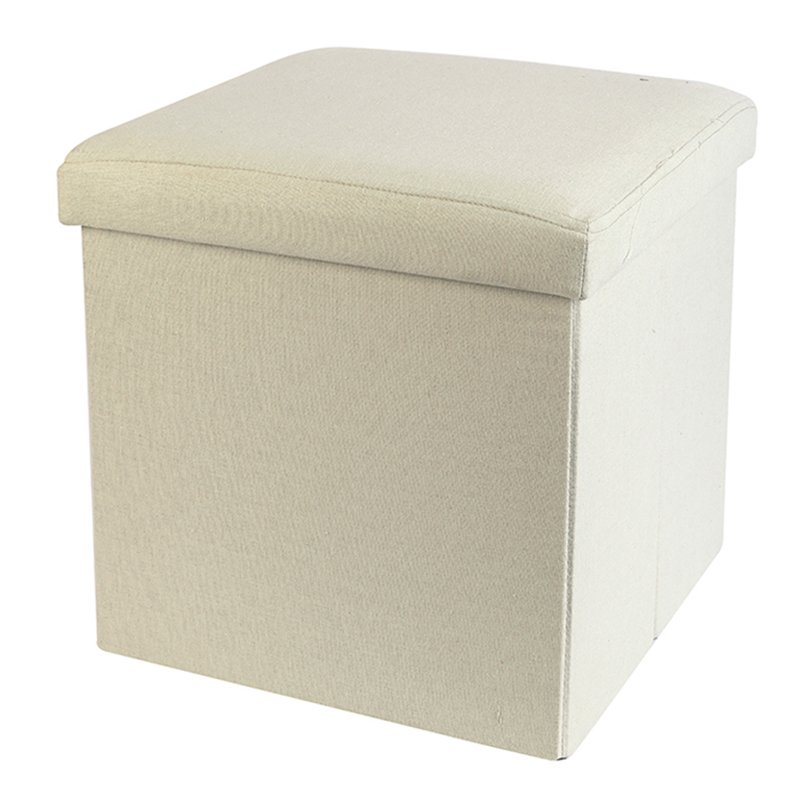 Hot Sale Home Goods Folding Storage Ottoman Fabric Cotton Polyester