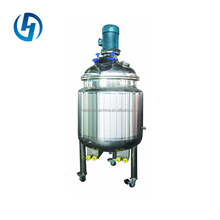 refrigerated or heated mixing tank with top agitator