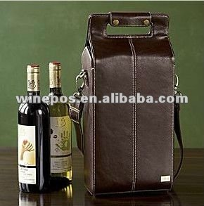 PU leather wine bag,wine tote,wine carrier,wine holder,two bottle wine bag,wine gift