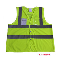 summer wholesale orange Safety Vest reflective hi vis worker dress, reflective safety vest
