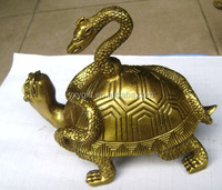 brass tortoise with snake on back /copper snake tortoise decor wholesale fengshui arts & crafts