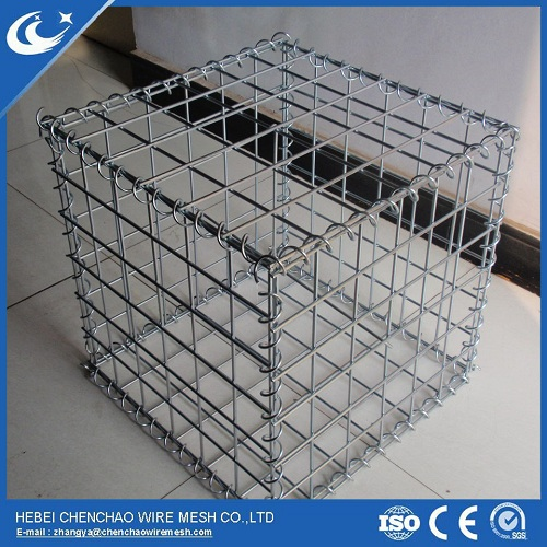 High quality hot dip galvanized Welded Gabion Box / Rock Basket Wire Mesh