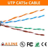 AiLINE Customized White Color UTP Cat5e Cable 4 Pairs Patch Cord