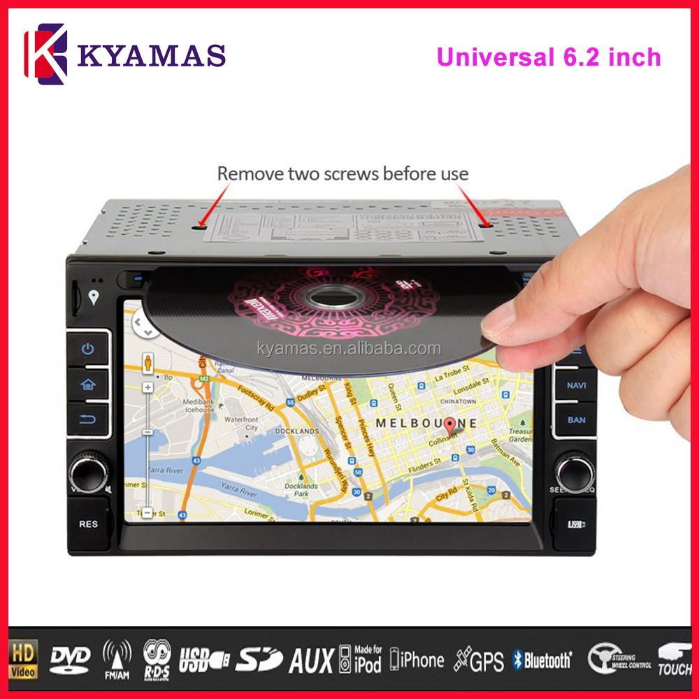 Universal In dash Google Map Wince 6.0 Multimedia Car DVD Player with Navigation 6.2 inch 2 din