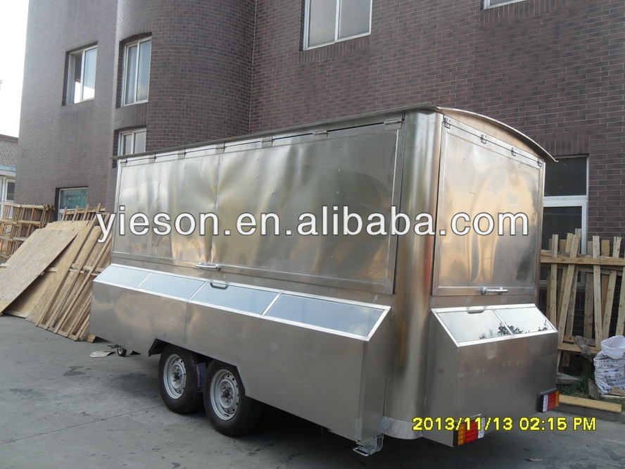 Yieson custom trailer van trailers food trucks for sale