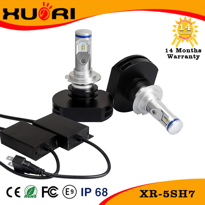 IP68 car led headlight bulb h7 fanless 10v-30v led head light kit for auto parts