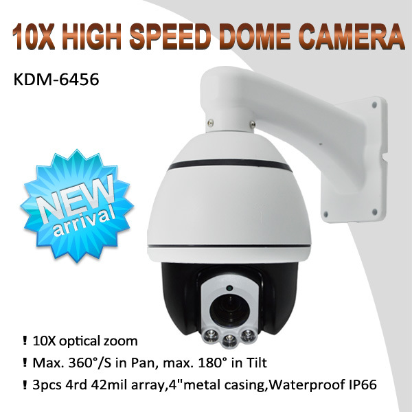 "10X Zoom high speed 1/3""Sony Effio-S 1000TVL IR dome ptz cctv camera, with built-in Temperature control"