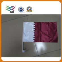 Qatar national day decoration car flag