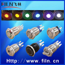100pcs/lot LED Anti-vandal stainless steel momentary type door release push button