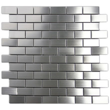 Silver stainless steel mosaic tile kitchen metal mosaic backsplash tiles