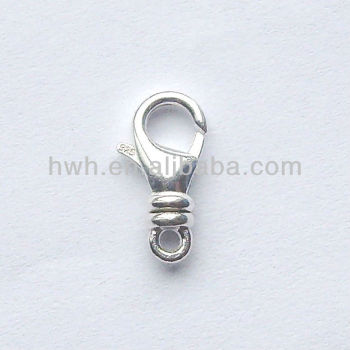 H1581 Sterling Silver Swivel Lobster Claw Spring Clasp