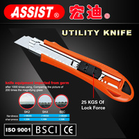 Factory ABS plastic+TPR 9MM 18MM 25MM Blade utility knife