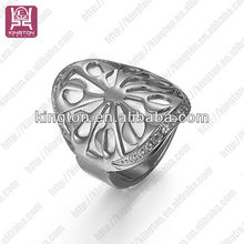 fashion stainless steel Jewelry rings with stones silver color