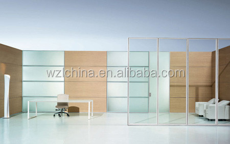 cheap price aluminium office glass divider glass partition system for bank shop restaurant