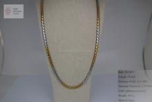 Wholesale New Style Hip hop platinum and gold solid plated rope chain necklace