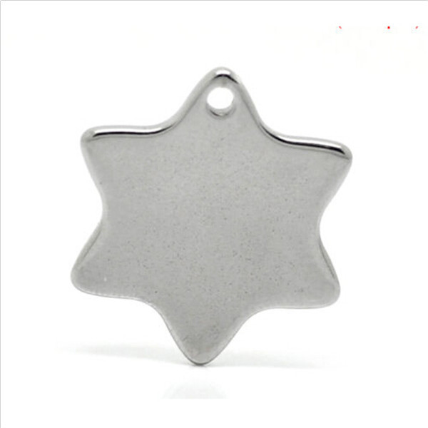 Yiwu Aceon Stainless Steel Blank * STAR * Charms for XMAS ENGRAVING/STAMPING 20x18 NEW