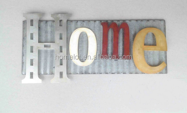 Cheap Zinc Wal Decoration HOME Decoration Creative Wall Deco Wholesale