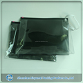 swimwear plastic packaging black transparent zip bag pvc ziplock pouch with hot stamping foil silver logo