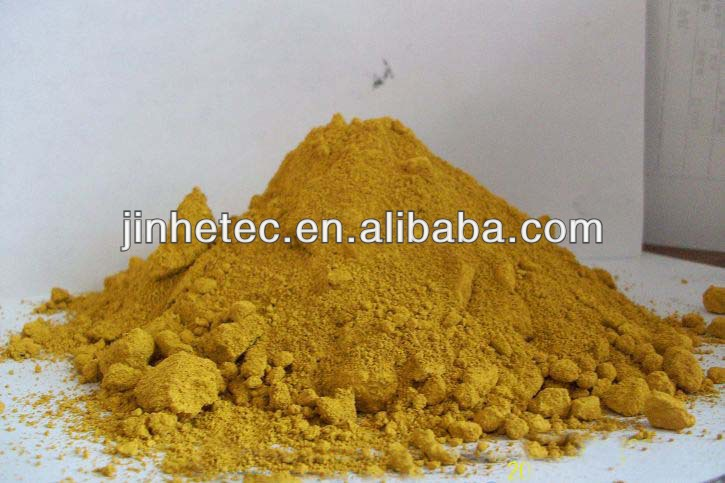 high tinting strength yellow iron oxide pigment supplier from Jinhe
