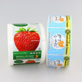 Permanent adhesive sticker label printing