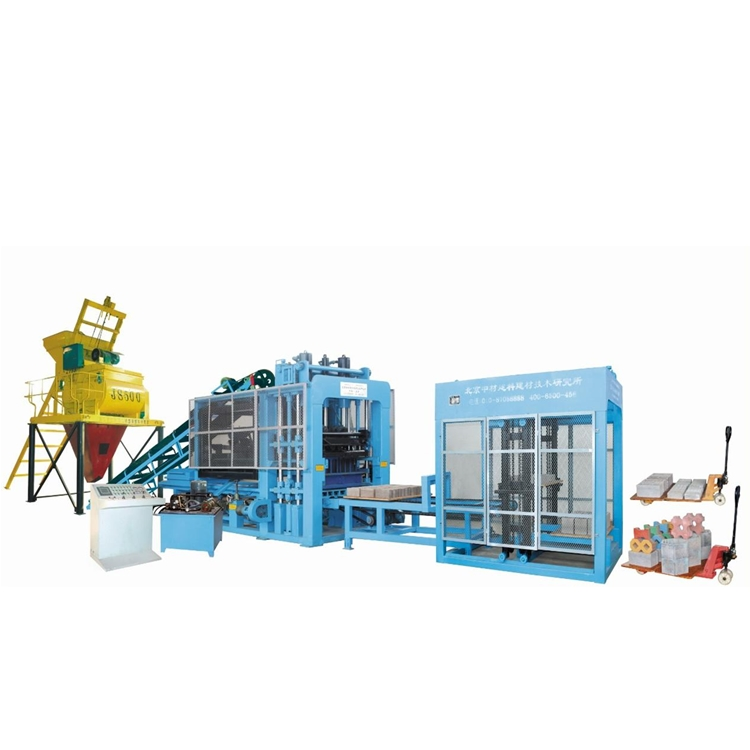 ZCJK QTY6-15 fully automatic concrete hollow/colorful block making machine hot sale