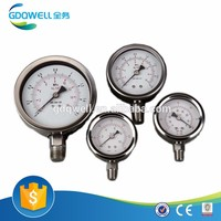 Panel type Stainless steel oil liquid filled pressure test gauge of Bar, PSI, Mpa