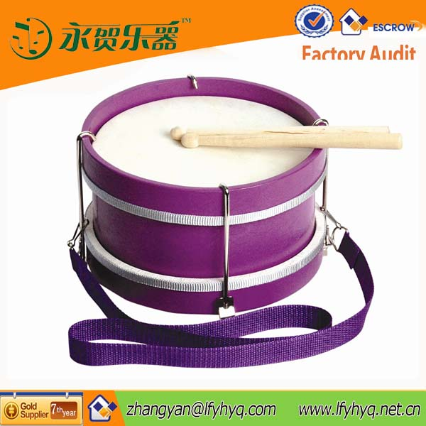 Latest China cheap purple percussion children marching snare drum