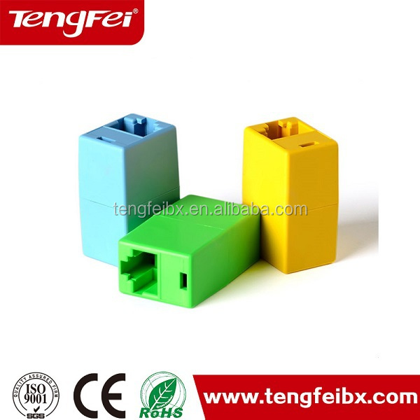 180 degree RJ45 UTP Cat5 Keystone Jack Inline Coupler