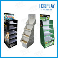 Custom cardboard floor display stand rack for supermarket promotion