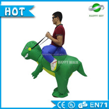 Low price inflatable green ride on dragon costume on sale inflatable suit dress custom using for advertising