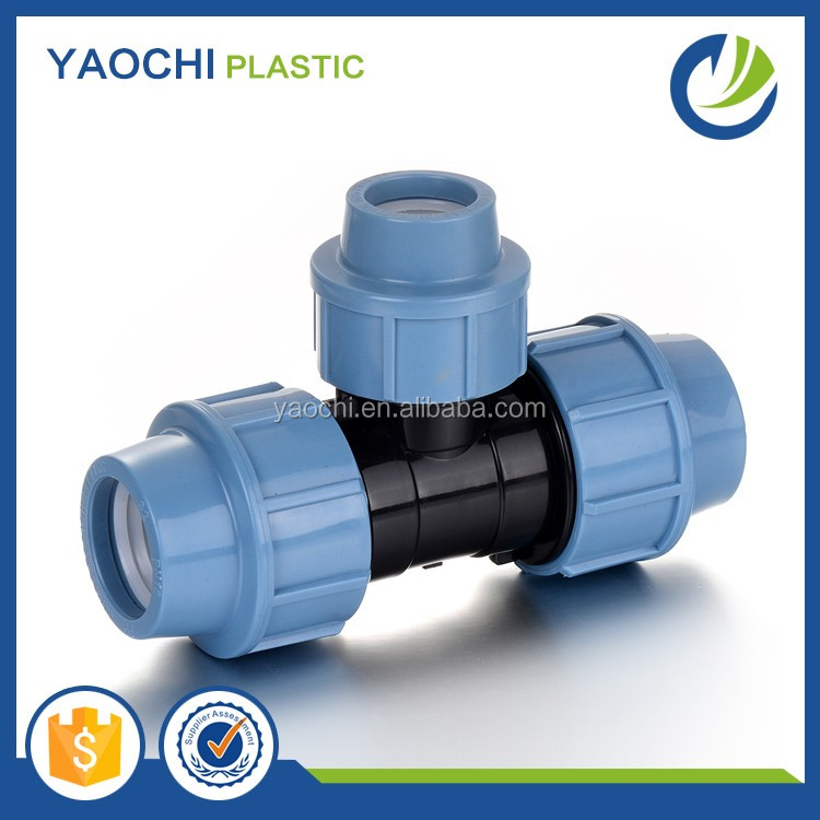 High-quality PP compression fittings equal tee with best price pvc pipes and fittings