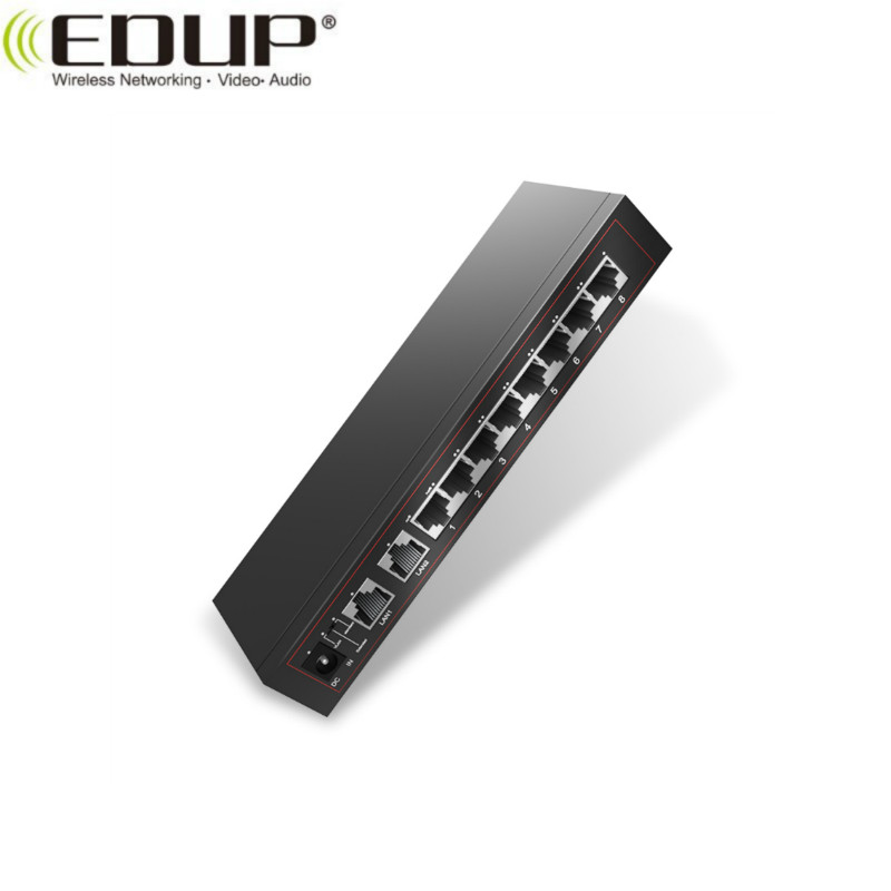 EDUP EP-SG7808 new arrival 10-Port 10/100M PoE Switch with 8 PoE Port